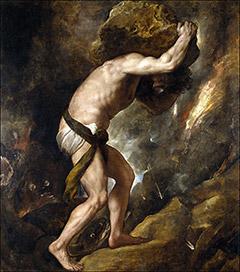 Sisyphus by Tiziano Vecellio