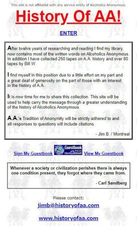 History of AA!