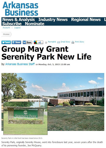 Group May Grant Serenity Park New Life