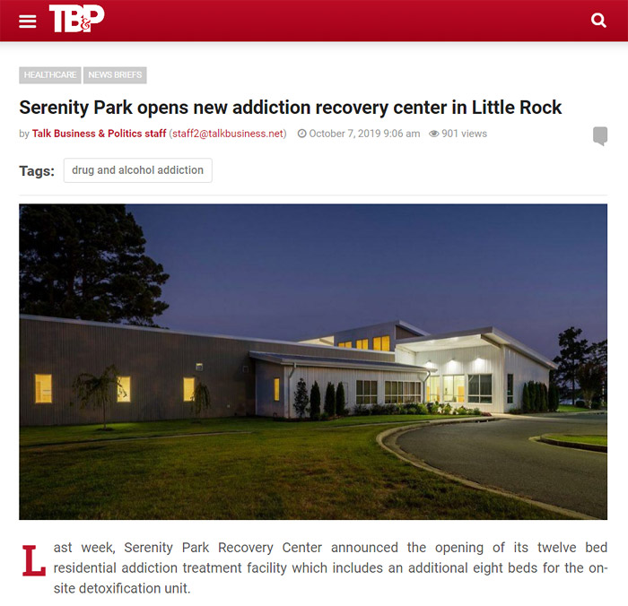Serenity Park opens new addiction recovery center in Little Rock