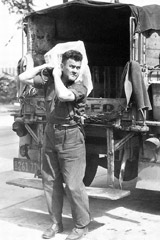 The Iceman Making Deliveries From His Truck 1942