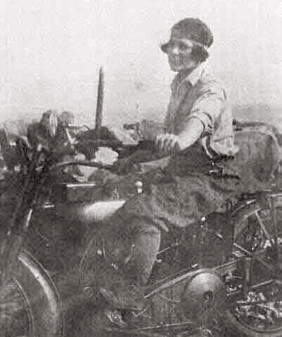 Lois Wilson on the 'Hobo' Harley-Davidson