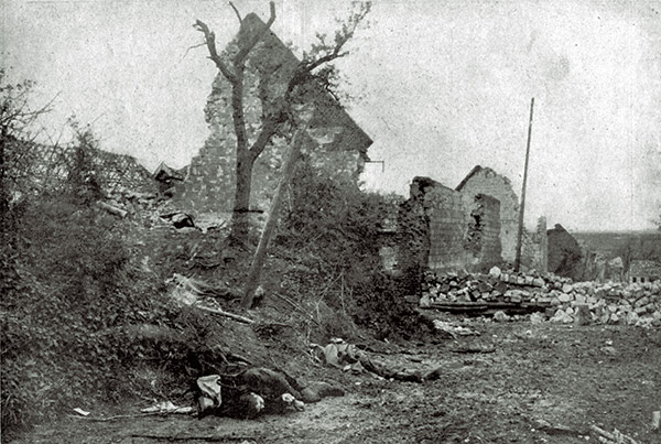 Capture of Carency aftermath 1915