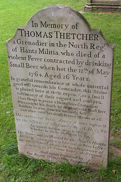 Gravestone at Winchester Cathedral