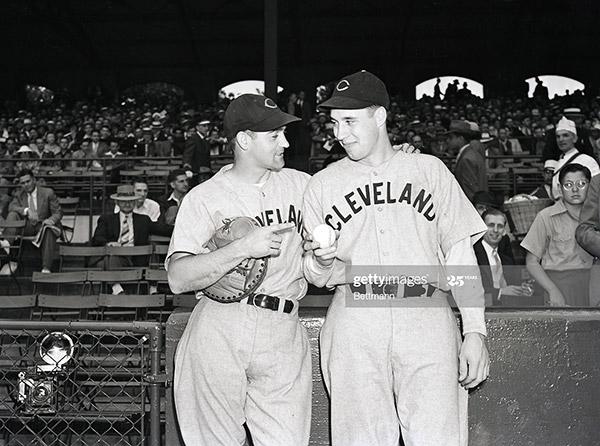 Bob Feller And Rollie Hemsley