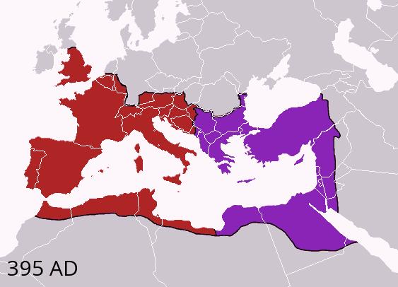 395年のローマ帝国の分割