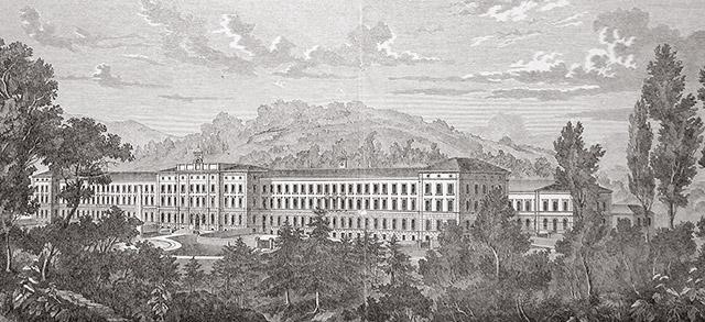 Klinik Burghölzli um 1890