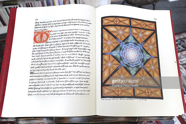 Illustration called Centering Mandala in The Red Book at the Jung center in Brunswick