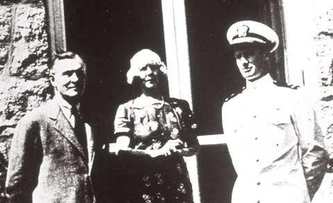 Rowland Hazard and his wife and son Peter